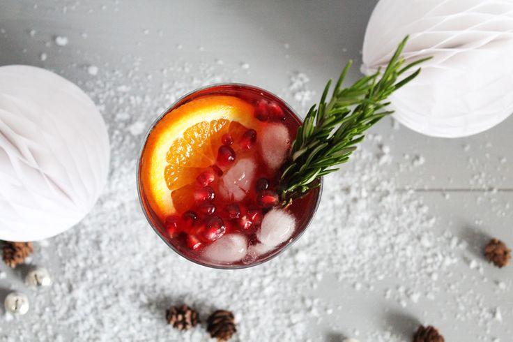 Wintercocktail mit Granatapfel und Cranberry-Saft › Schön und fein