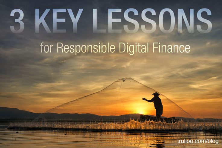 3 key lessons for responsible digital finance #financialinclusion #digitalfinance
