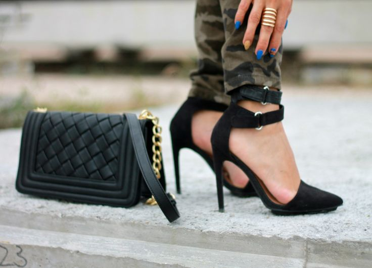 Black suede heels #shoes #heels