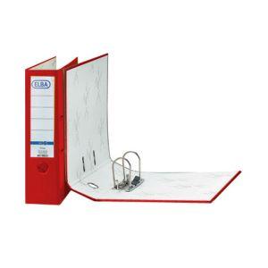 Archivador Elba Rado Top forrado de polipropileno el exterior y papel el interior.  Tamaño Din A-4.  Color rojo