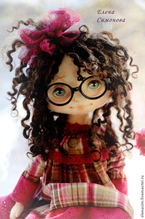 Коллекционные куклы ручной работы. Ярмарка Мастеров - ручная работа. Купить Анфиса. Handmade. Фуксия, интерьерная кукла, хлопок 100%