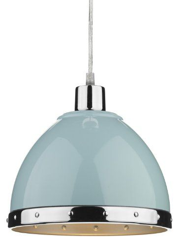 Stylish Duck Egg Blue Metal Pendant Shade Pair - HP023584: Amazon.co.uk: Kitchen & Home