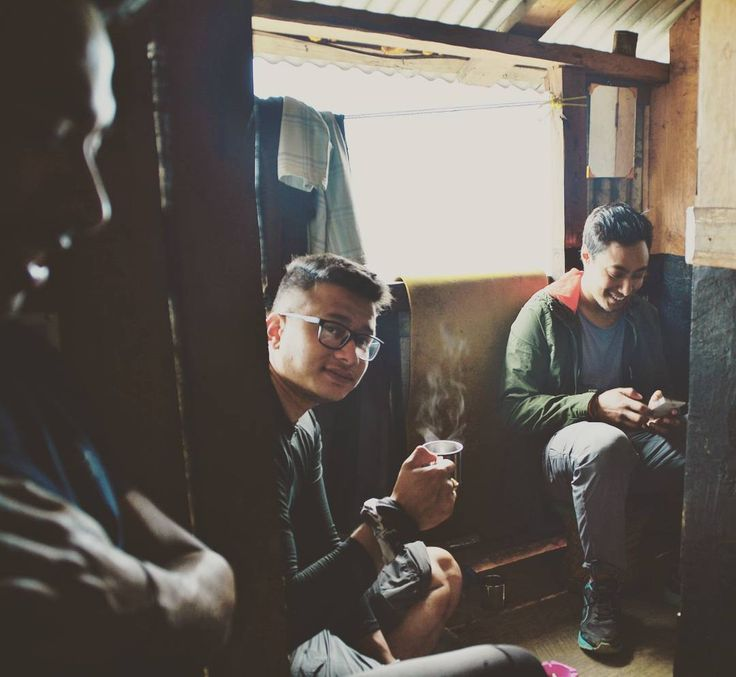 Fancy a cup of tea?  #GhaleGaun #Bhujung #Travel #Tea #Rain #Shelter