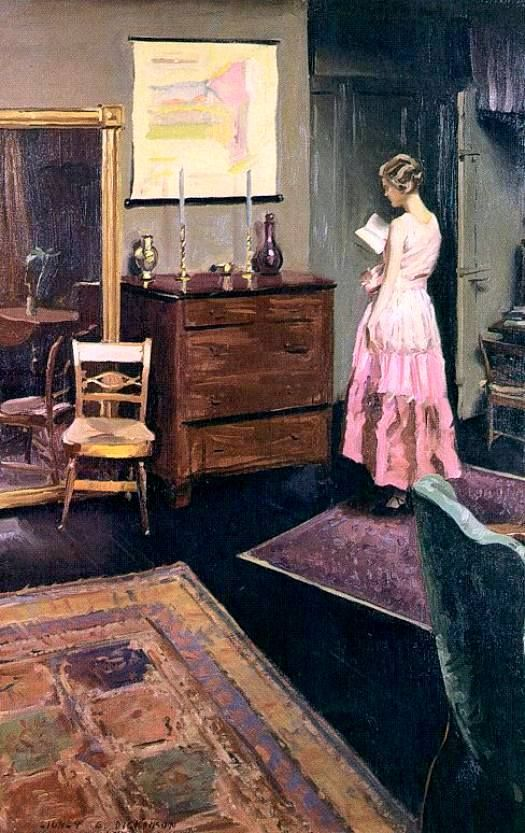 "Sidney Edward Dickinson ~ ""Mary in the studio"""