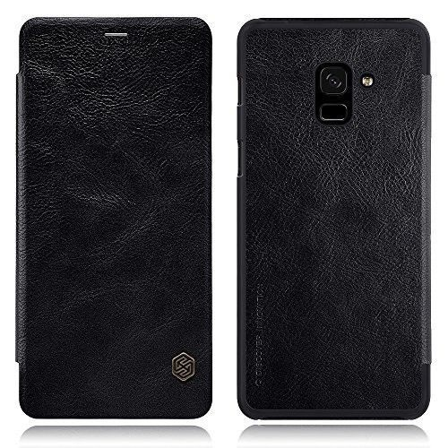 Samsung Galaxy A8 Plus Leather Case Smartphone Flip Cover Full Body Protection #CellPhoneAccessories