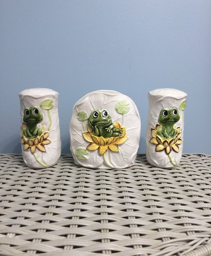 Vintage Neil The Frog Ceramic Napkin Holder 1978 Sears Roebuck