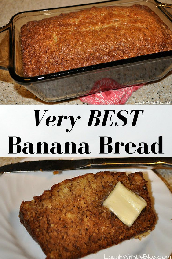 I have made a LOT of banana bread and this is my very favorite recipe!  It's sweet and yummy--perfect with your favorite cup of coffee or tea.