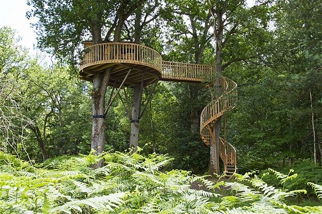 Image: ''Howdah En Foret'' treehouse in Sologne, France, that is perched on two large oak trees. (© Sipa Press/Rex Features Ltd, 2012)