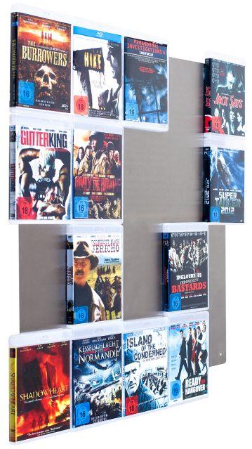 CD Wall-CD-Wall - Mehr als nur ein Blu-Ray-Regal. Zaubern Sie sich ein eigenes Heimkino mit einem Blu-Ray Wandregal in Ihren Wohn-, Büro- oder Geschäftsräumen!