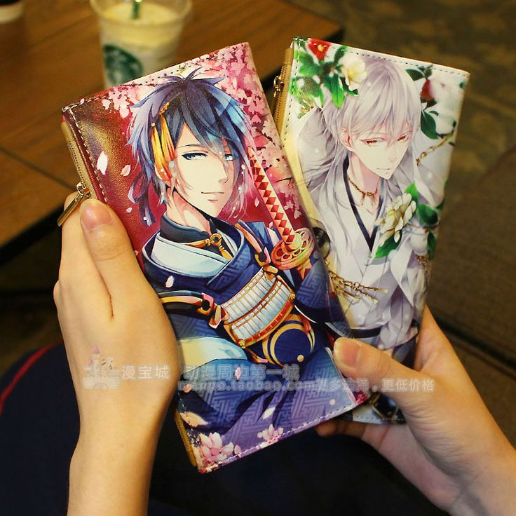 Anime  Touken Ranbu Online Cosplay Anime wallet long male and female student wallet child birthday gift