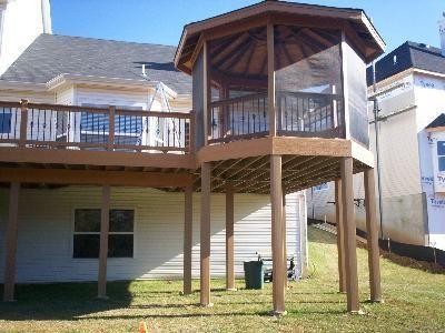 Second story deck with gazebo