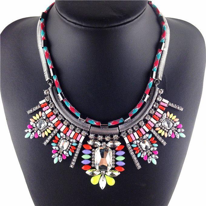 Горячие Продать Ожерелье Shourouk Стиль Хрустальный Цветок Себе Ожерелье Горячие Женщины гламур Роскошные Ожерелья и кулоны