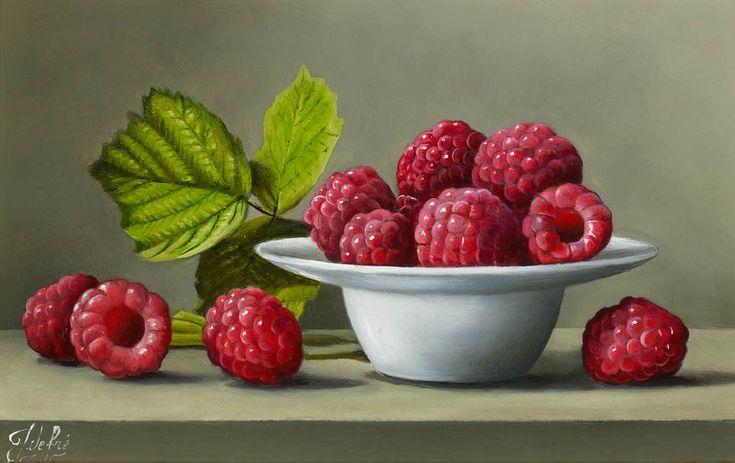 Johan de Fre (b.1952 ) - raspberries