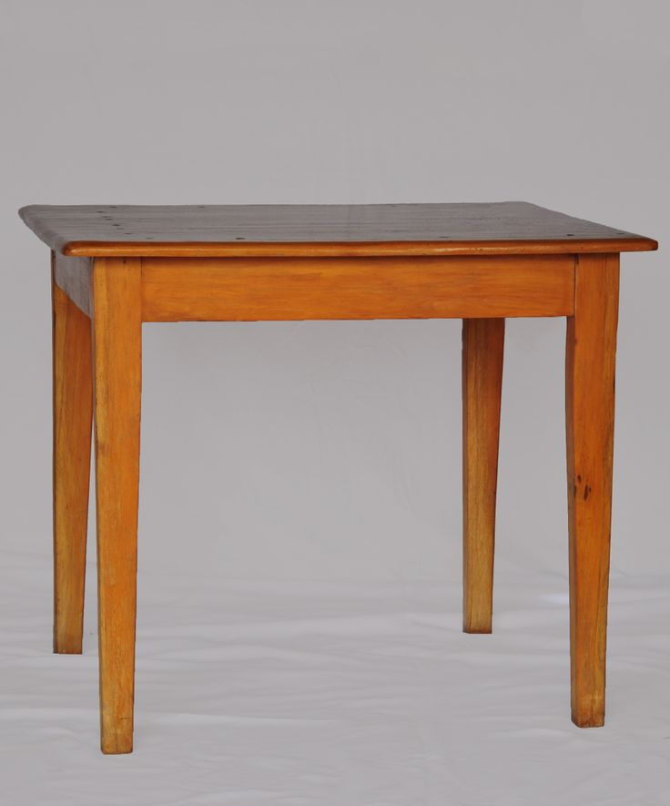 Cottage Furniture this small yellow wood table is an example of South  African