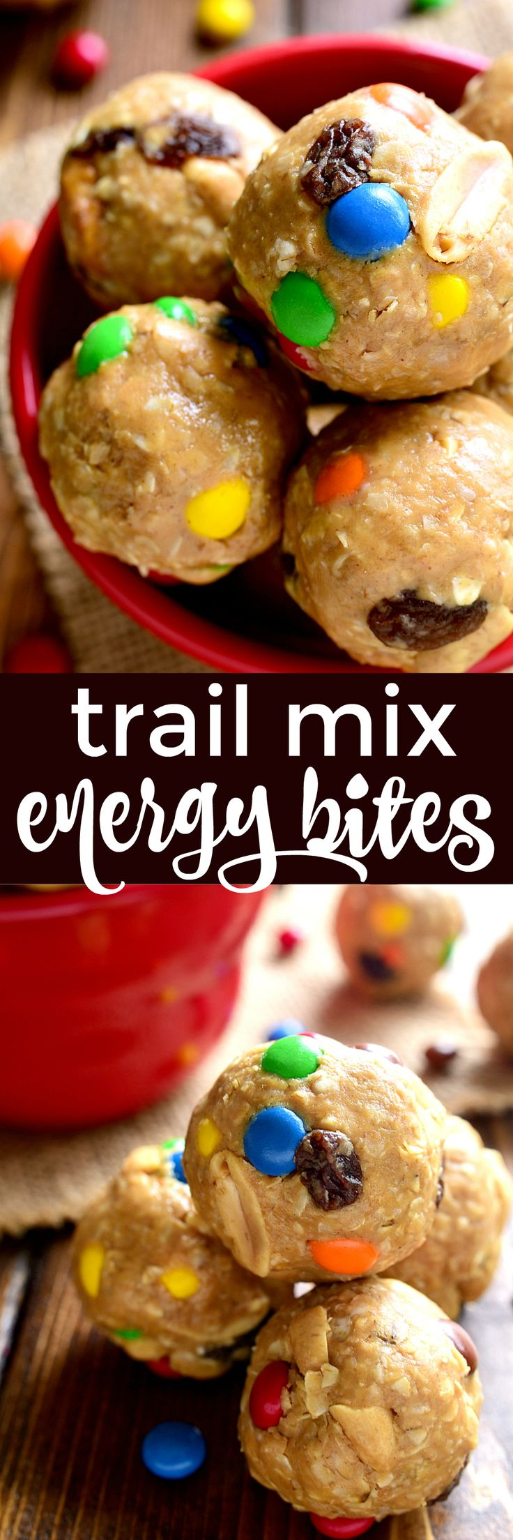 These Trail Mix Energy Bites combine all the flavors of classic trail mix in a delicious energy bite you're sure to LOVE! (I bet you can't eat just one!)