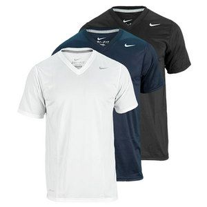 NIKE MENS LEGEND V NECK SHORT SLEEVE TEE
