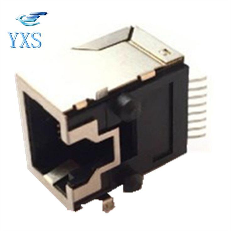 10 PCS/Lot RJ45-8P8C-SMT SMD Socket Laptop Dedicated Network Socket Protected Type #Affiliate