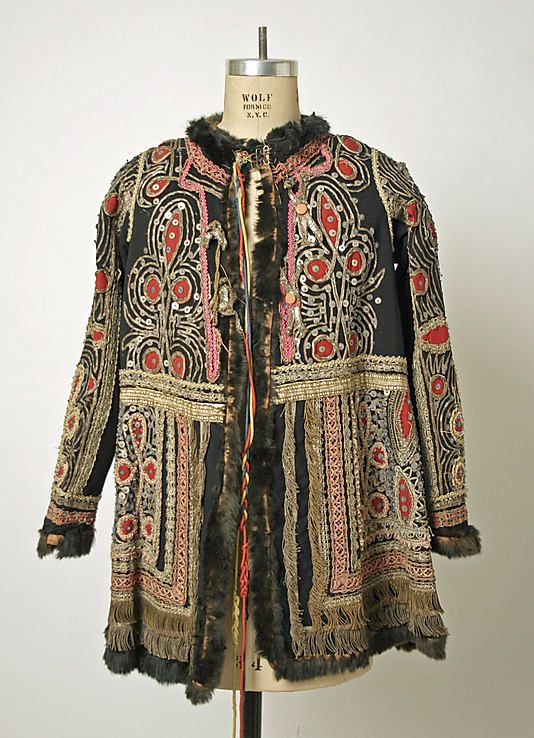 Jacket Date: 1875–1925 Culture: probably Hungarian Medium: wool, metal, glass