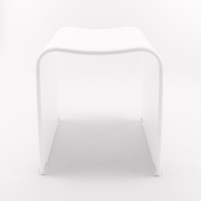 White shower stool The designer touch for your interiors and wellness