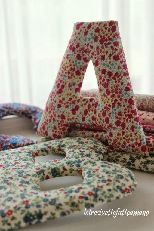 Letters with Liberty fabric