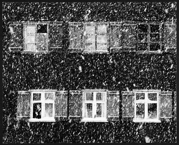 Toni SCHNEIDERS :: Schneefall in Lech [Snowfall in Lech], Austria, 1959