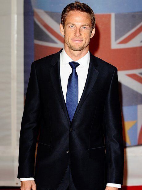 Jenson Button looking very smart in a suit at the BRIT Awards 2012
