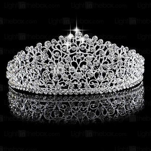 Women's Rhinestone / Alloy Headpiece-Wedding Tiaras 1 Piece Silver 2017 - kr.105