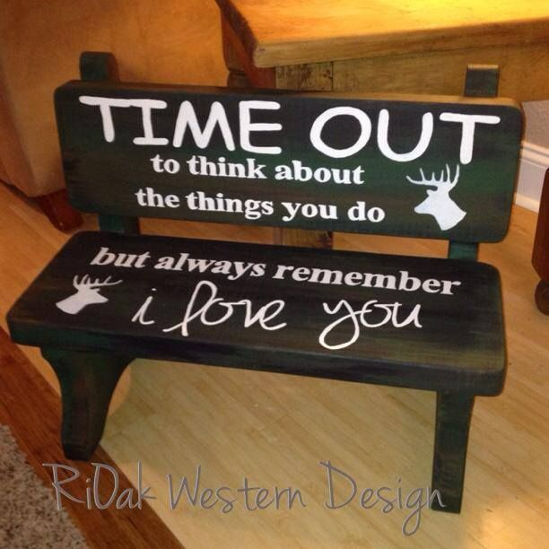 Hunter inspired time out bench