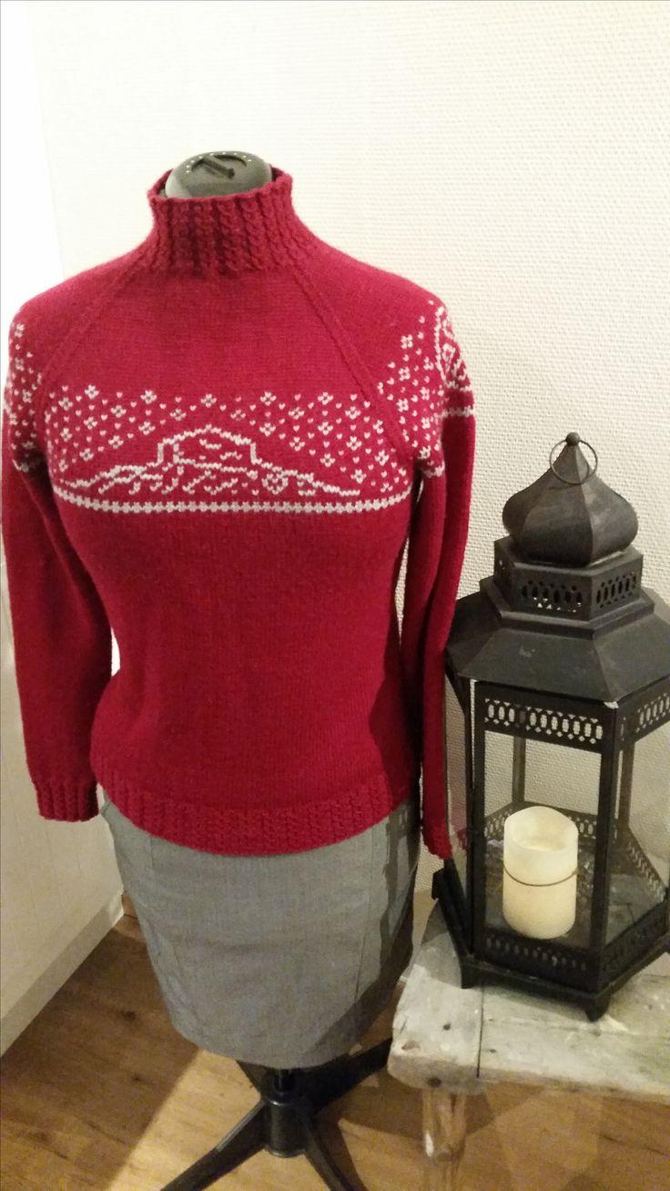 Bitihødn genseren Design Strimastrikk