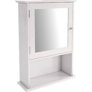 Fresh Bathroom Wall Cabinet with Mirrored Door and Shelves