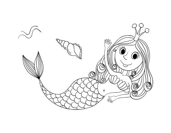 Ms de 25 ideas increbles sobre Dibujos de sirena en Pinterest