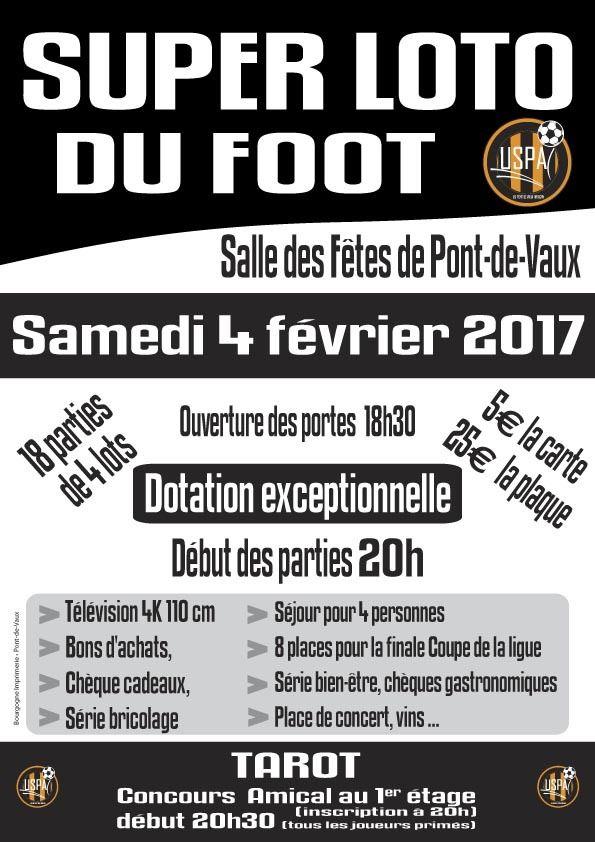 Loto et concours de tarot du club de foot de Pont-de-Vaux.