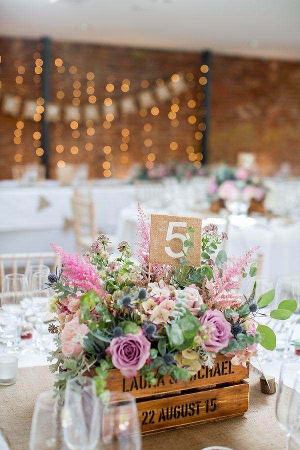 wedding table numbers hessian fabric available from @thewedingomd whimsicalwonderlandweddings.com - katherineashdown.co.uk