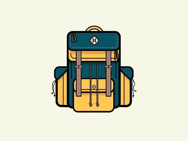 Camping Backpack Animation on Behance