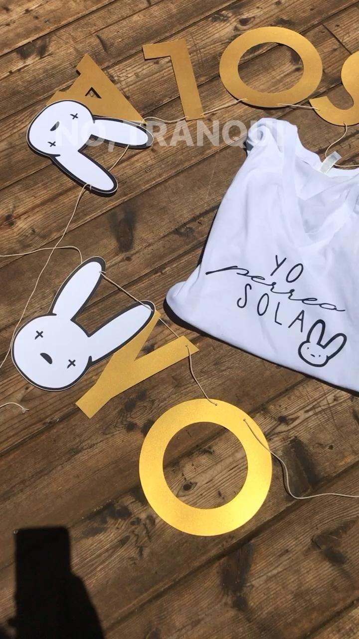 Bad bunny yo perreo sola banner party decor etsy video