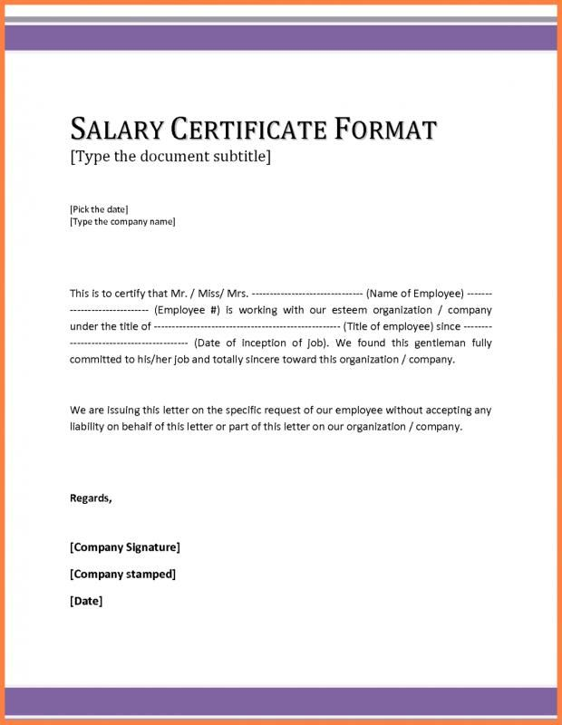 Bank Statement Template Certificate Format Letter Format Sample