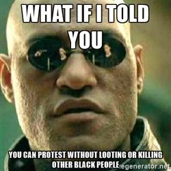 What If I Told You - What if I told you you can protest without looting or killing other black people