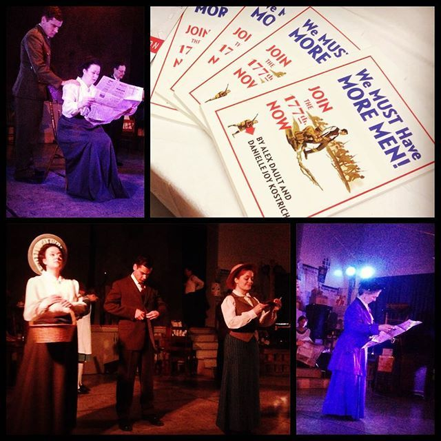 """A masterpiece written by #Barrie locals, """"We Must Have More Men"""" was performed by the talented @theatrebythebay to another sold out crowd last night! Get your tickets to see this show which details true stories of real Barrie & Simcoe County residents who struggled with, served in and contributed to #ww1 both at home and on the front. This show continues in Barrie until November 11 then moves to Base Borden till November 18. You will not want to miss this! #livetheatre #theatrebythebay"""