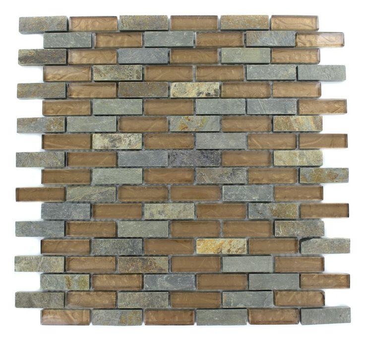 Splashback Tile Tectonic Harmony Green Quartz Slate And: 14 Best Backsplash Images On Pinterest