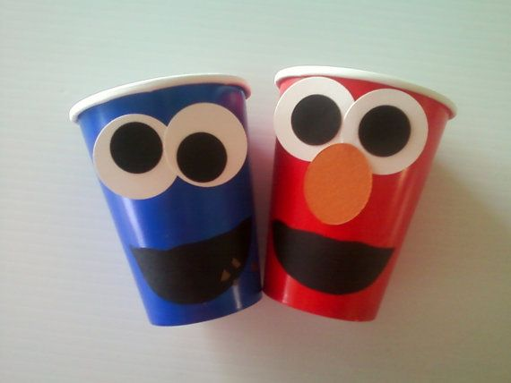elmo cups: Solo Cup, Elmo Cup, 1St Birthday, Elmo Party, Party Idea, Sesame Streets, Paper Cups, Birthday Party, Sesame Street Party