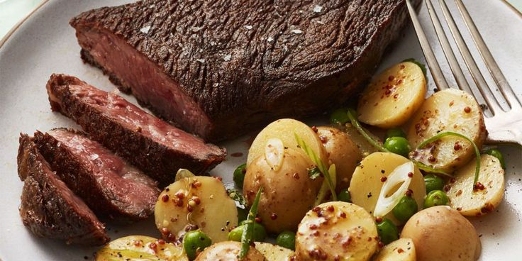 Seared Steak and Potato Salad with Peas and Radisheswomansday