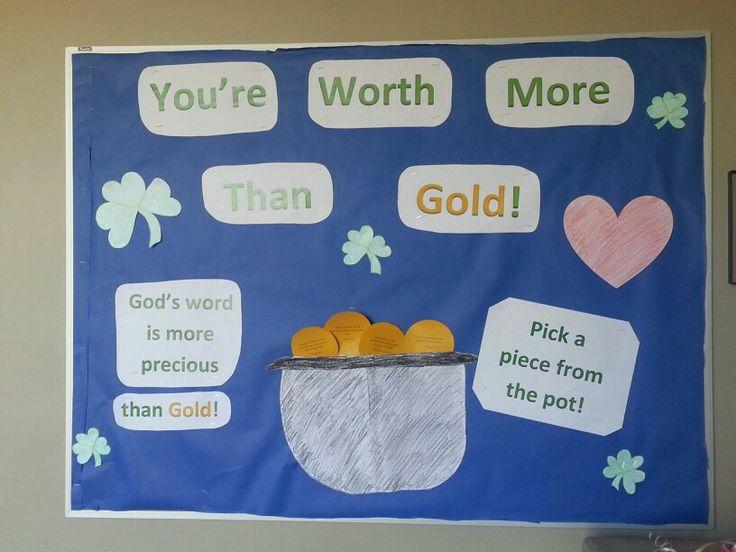 Bulletin board idea for college, especially march! #march #bulletin #ra #college #Christian