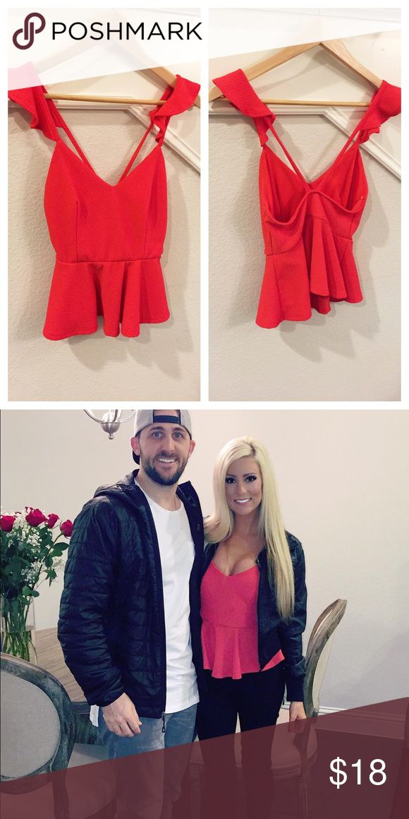 Red Peplum Top #trendy #red Tops