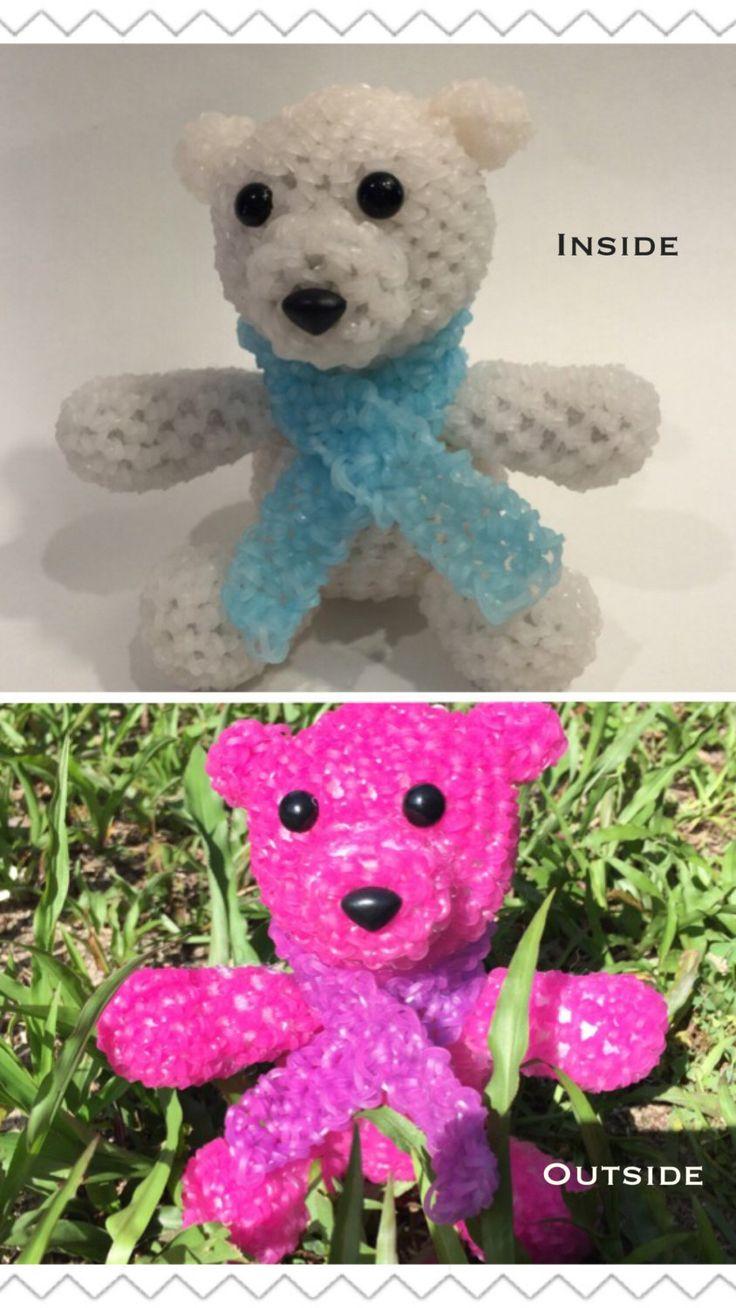 Color Changing Polar Bear Rubber Band Figure by BBLNCreations on Etsy Loomigurumi Amigurumi Rainbow Loom