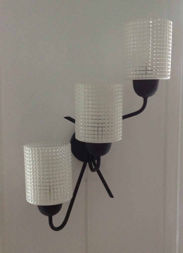 Vintage lamp, spraypainted black.