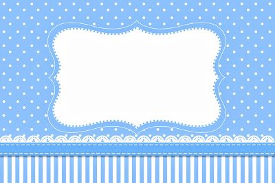 Poá Azul e Listras – Kit Completo com molduras para convites, rótulos para guloseimas, lembrancinhas e imagens! |Fazendo a Nossa Festa