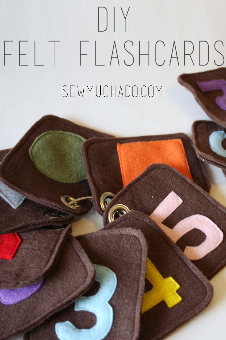 Felt Flashcards Tutorial and Free Pattern #diytoy #sewing #sewingtutorial #tutorial #sewingforbaby #flashcards #diyflashcards #sewmuchado
