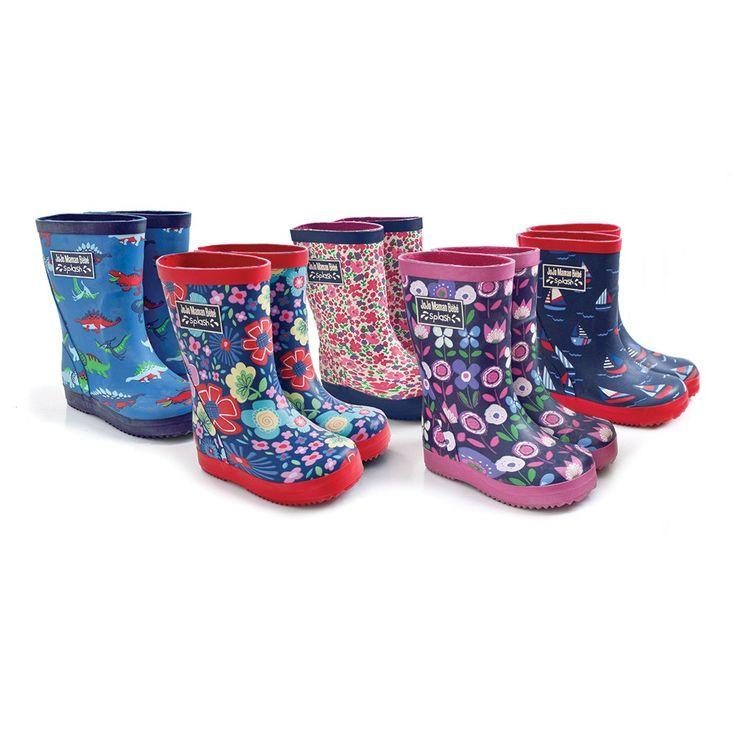 Patterned Wellie Rain Boots | JoJo Maman Bebe