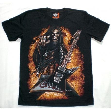 Maglietta scheletro chitarrista