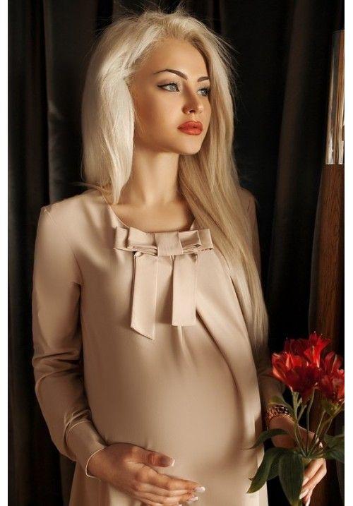Платье для беременных ГН-114 (цвет беж)